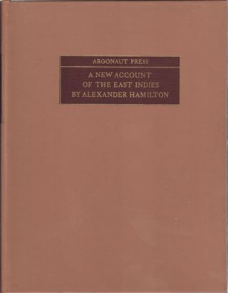 A New Account Of The East Indies. ALEXANDER HAMILTON